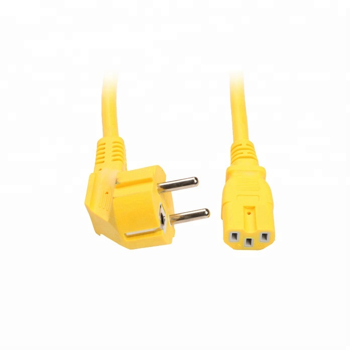European standard yellow round wire rice cooker power cord