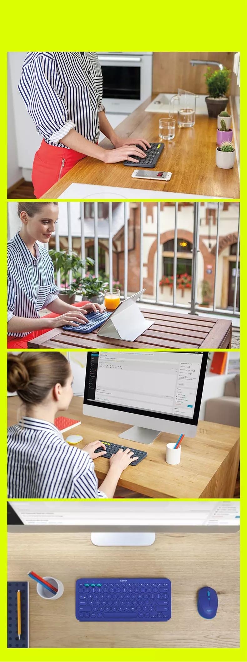 Original Logitech K380 Multi-Device  Wireless Keyboard and Mouse