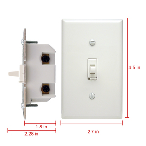 ZW31T Z-wave Toggle Dimmer for Lamp and LED Light Smart Power Remote Control Wall Switch wireless