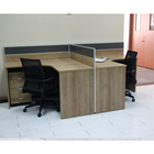 desktop workstation modular 2 person multi user computer desk