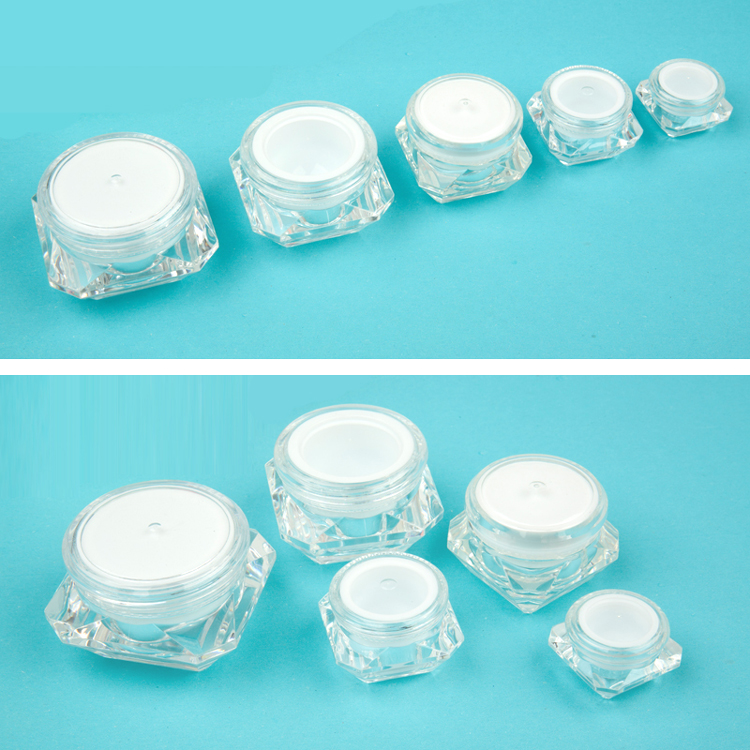 5g/10g/20g/30g Ex-stock Acrylic Empty Cream Container Wholesale Empty Diamond Cream Jar Luxury Cosmetic Cream Jar
