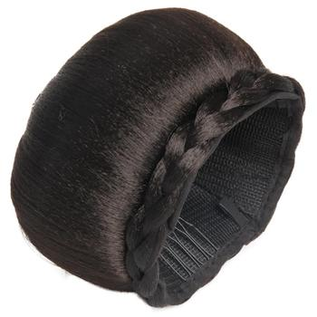 synthetic hair bun donut chignon dome hair chignon