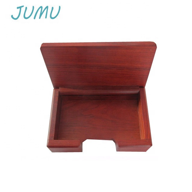 solid rose wood business card gift box