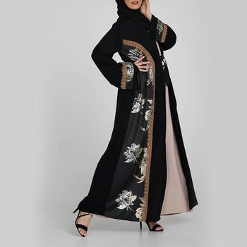 2019 Fashion Style Muslim Women Elegant Denim Jubah Latest Styles With Used Abaya Dubai
