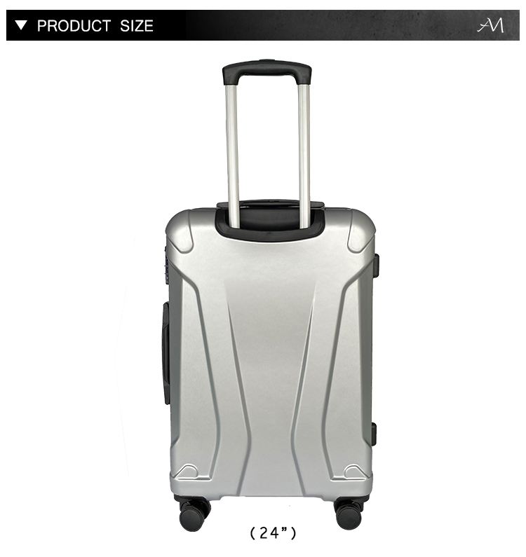 ANMAI Universal Travel Hard Suitcase Luggage Travel Trunk Case Silver Suitcase Luggage