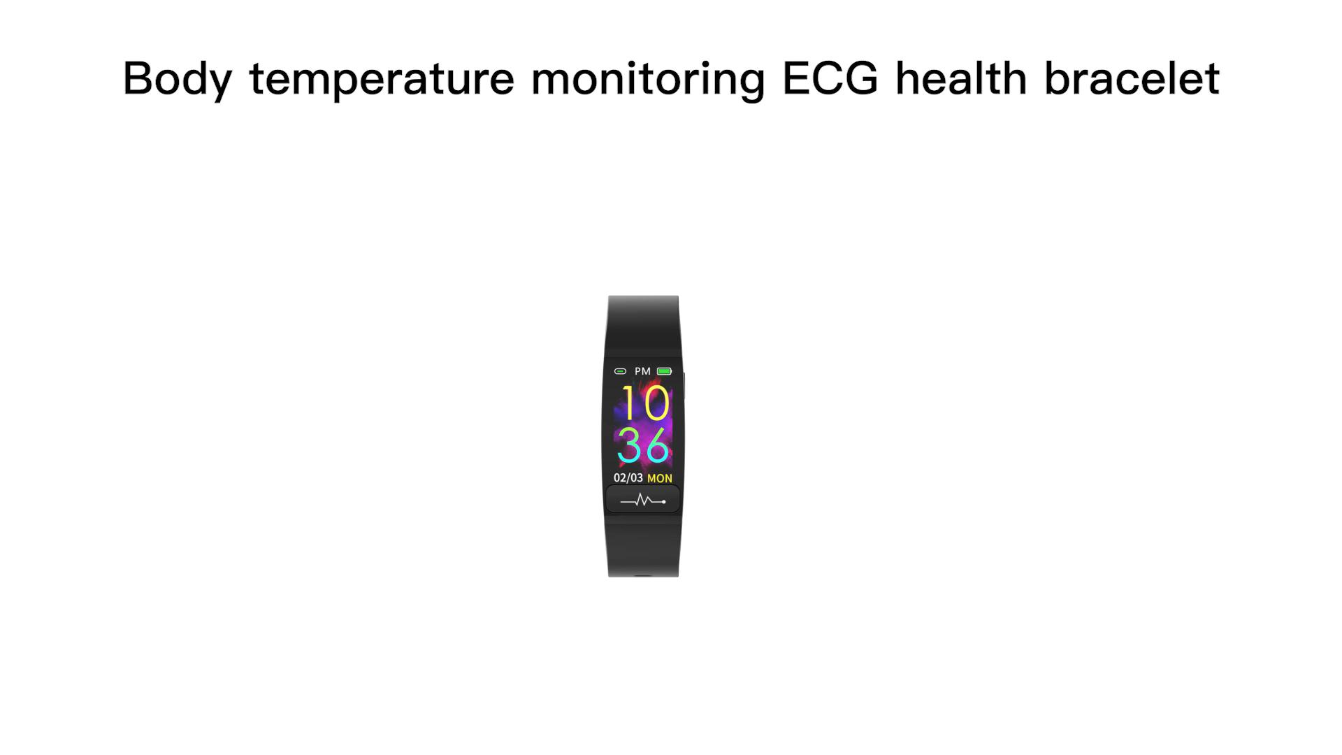 नई M8 0.96 इंच दिल दर घड़ी स्मार्ट कंगन PPG शरीर तापमान के साथ ईसीजी स्मार्ट घड़ी