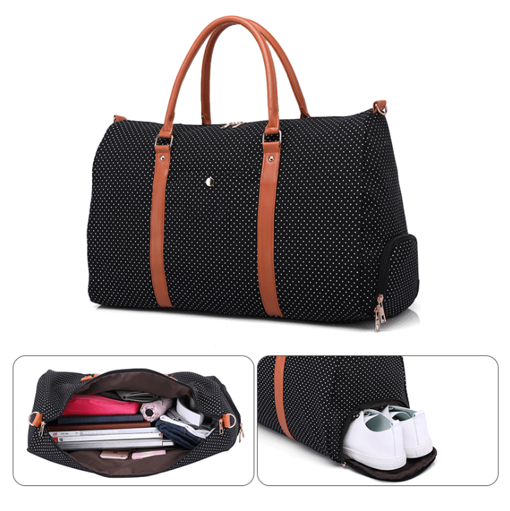 Custom Canvas Travel Garment Luggage Multifunctional Travel Bag Shoes Duffle bags