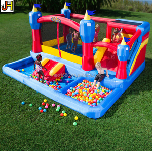 Pirate Blaster Inflatable Bouncer With Slide Pool Blast Zone Misty Kingdom Water Park For Kids