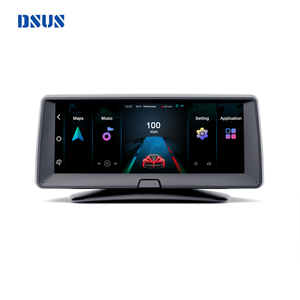 6.86 inch on dashboard car android gps navigation adas camera dual 1080p wide angel dash camera 360 rear view parking camera