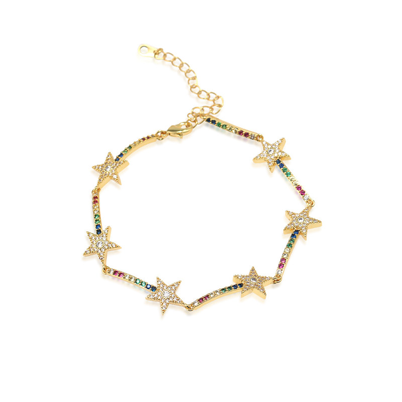 twinkle star charm <strong>cz</strong> <strong>tennis</strong> <strong>bracelet</strong> for Xmas