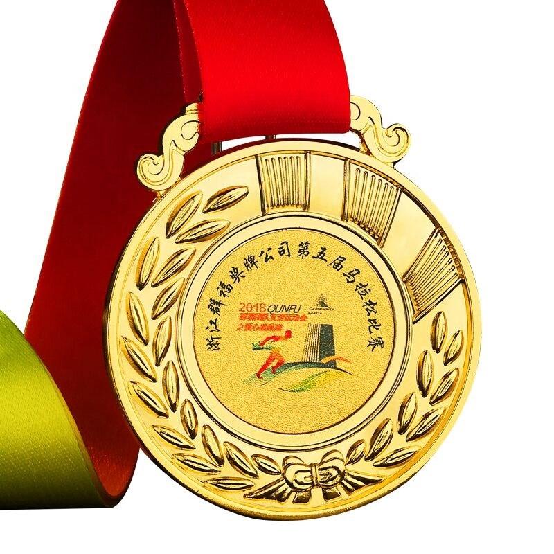 Médaille suspendus or maternelle petit sport taekwondo médaille des jeux de football ruban personnalisé médaille en métal pour enfants