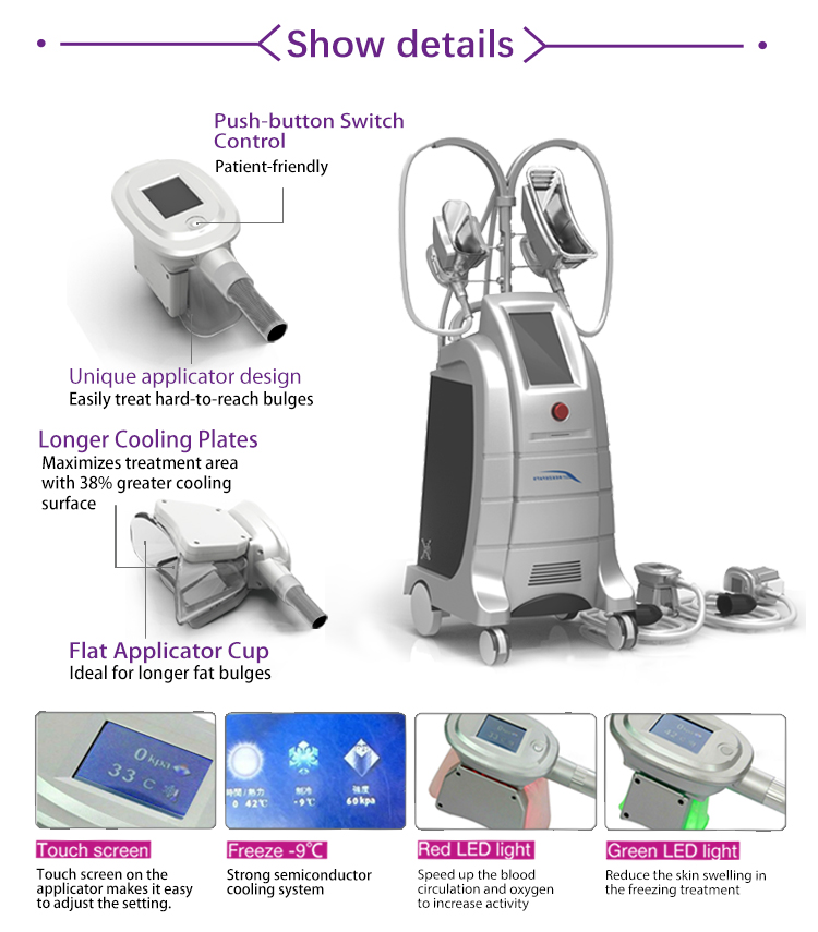 Cryo contour body shaping cryolipolysis crypolysis fat freezing machine