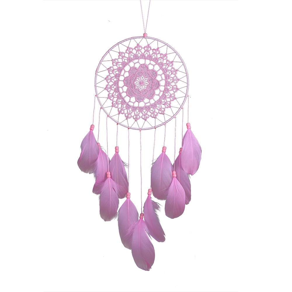 Wholesale Supplies Cheap Handmade Home Decor Indian Feathers Big Dream Catcher