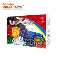 DELO TOYS 1000PCS AMAZON ebay hot selling products OEM TOYS ABS plastic building blocks toy for kids DIY bulk bricks (DE19848)