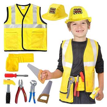 ecowalson Kids Worker Costume Role Play Dress up Set for 2 3 4 5 6 Years Toddlers Boys Girls Yellow
