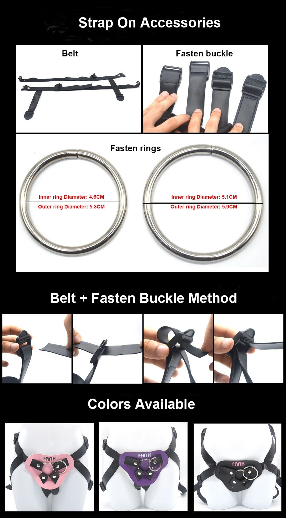 FAAK wholesale gay lesbian adjustable harness with 24cm realistic silicone dildo soft straps O-ring strapon dildo for men