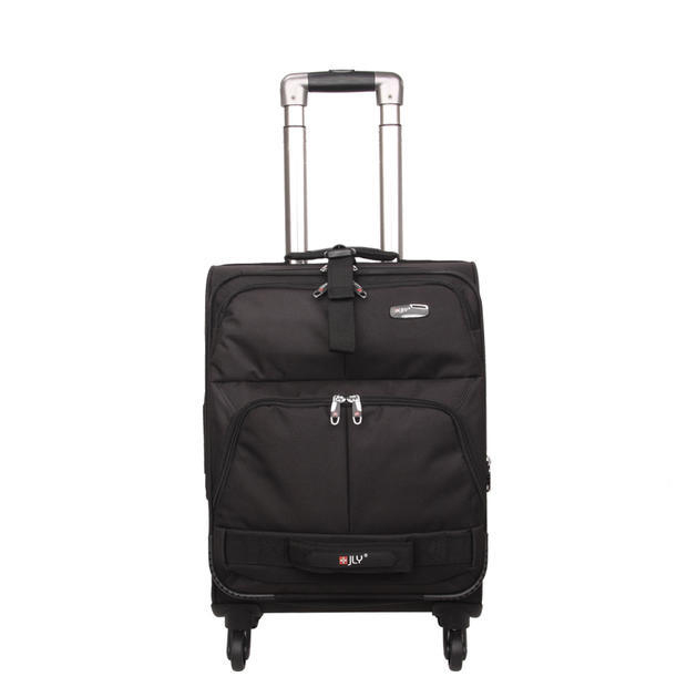Luggage men and women fashion leisure soft case 18/23/28 trolley case universal wheel nylon checked cloth box