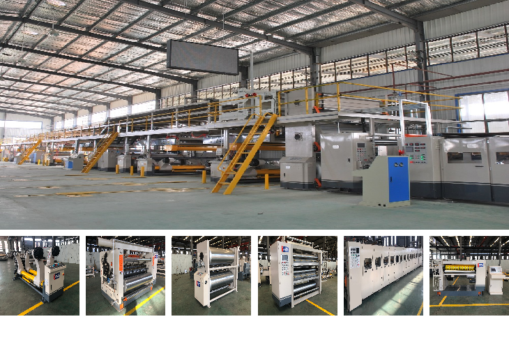 China Full Automatic Corrugated Paperboard Production Line