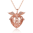 Wing Pure Copper Love Heart Wing Cage Aromatherapy Jewelry Set