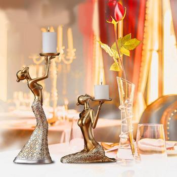 1pair Resin Vintage Abstract Lady Candle Holder Statue Sculpture Candlestick Party Weeding Decoration Accessories Home Decor Buy Aliexpress Aliexpress Com Online Shopping Product On Alibaba Com
