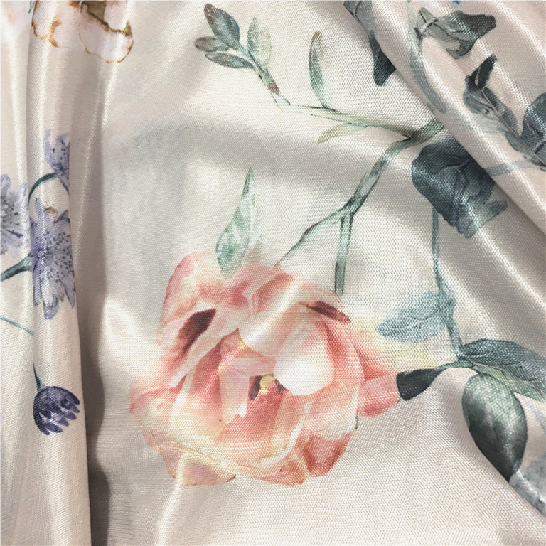 Factory direct custom digital printed 93 polyester 7 spandex fabric