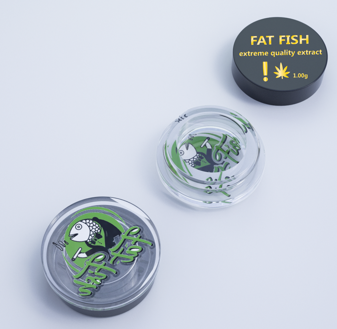 New Arrival Custom logo 5ml 6ml 10ml small glass jar wax containers with plastic lid