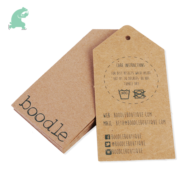 Custom Kraft Tags Printing for Clothes