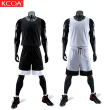 KCOA Voll Sublimation Kunden Quick Dry Leere Basketball Uniformen Reversible Basketball Jersey