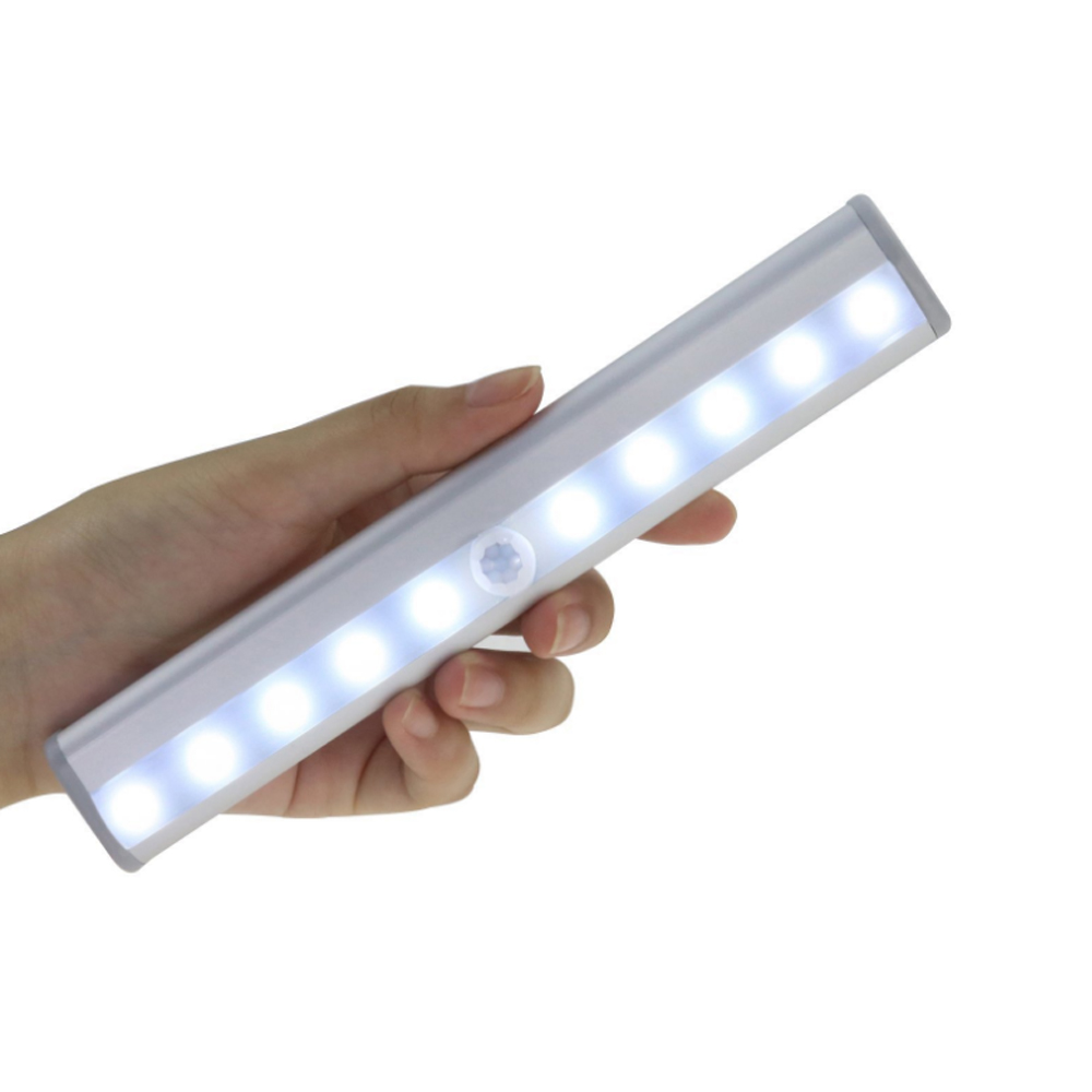 Bright Light 200LM Magnetic Cabinet LED Light Bar 4*AAA Battery Powered Under Cabinet Lighting Closet Spotlight