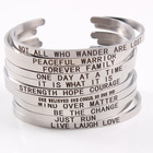 Bangle Bracelet Bangles Custom 3MM Width Stainless Steel Silver Cuff Engrave Bangle Bracelet For Ladies Inspiration Jewelry