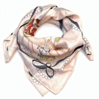 fashion square style vogue printing scarf high quality silk scarves