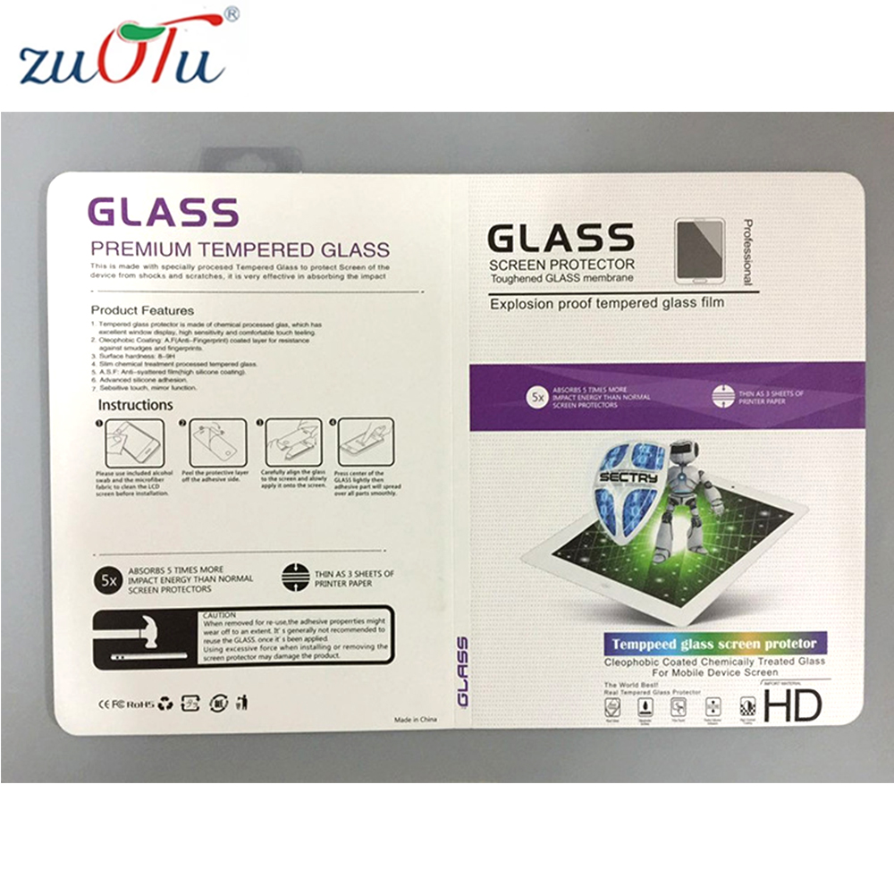 Universal กระดาษขายปลีกบรรจุภัณฑ์กล่องสำหรับ iPad Air Tempered Glass Screen Protector ฟิล์ม