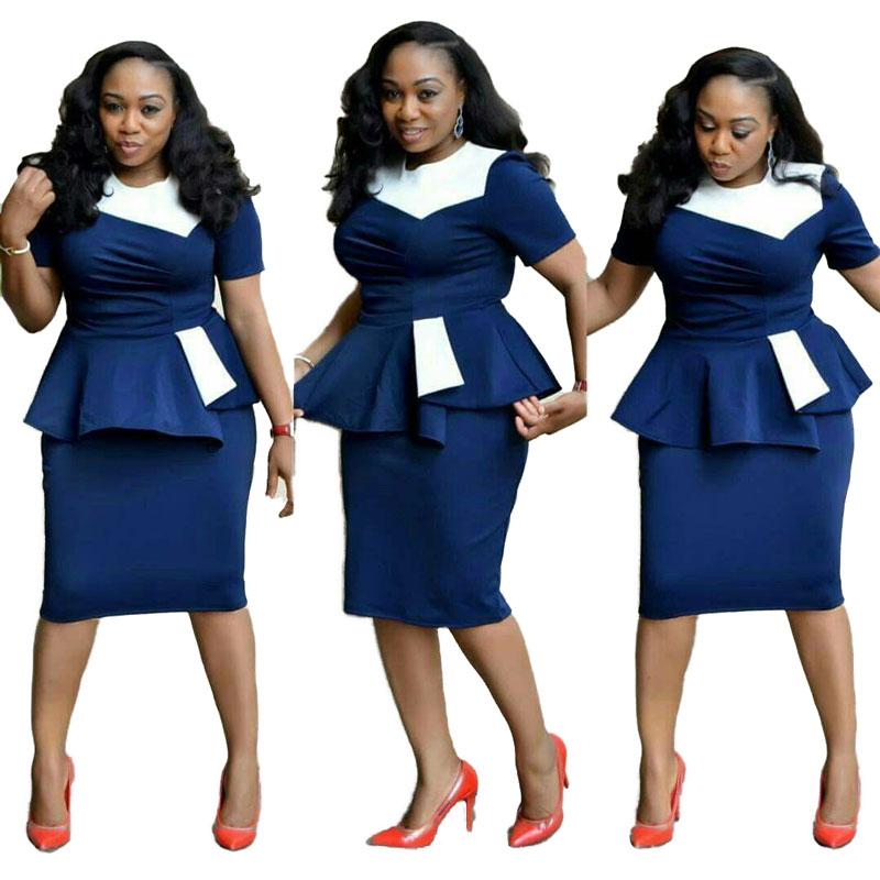 Alibaba.com / 90714-MX50 picture ruffles design african bodycon ladies dress