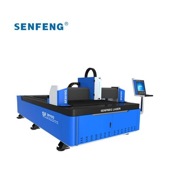 Automatic fiber laser metal cutter CNC 80m/min cutting speed SF3015G