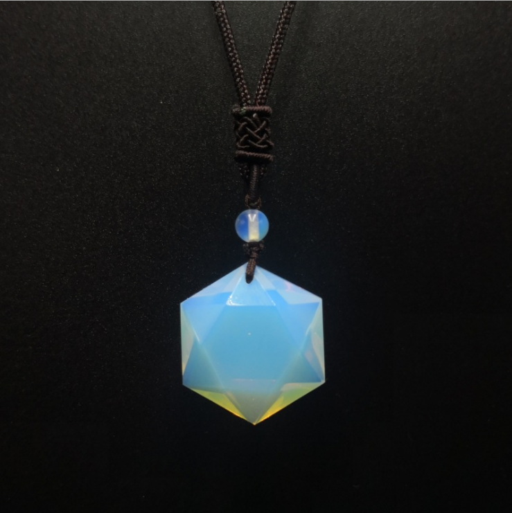 Wholesale <strong>natural</strong> crystal point necklace <strong>opal</strong> hexagon <strong>pendants</strong>
