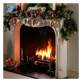 Transparent | clear heat resistant glass ceramic glass used as fireplace doors glass