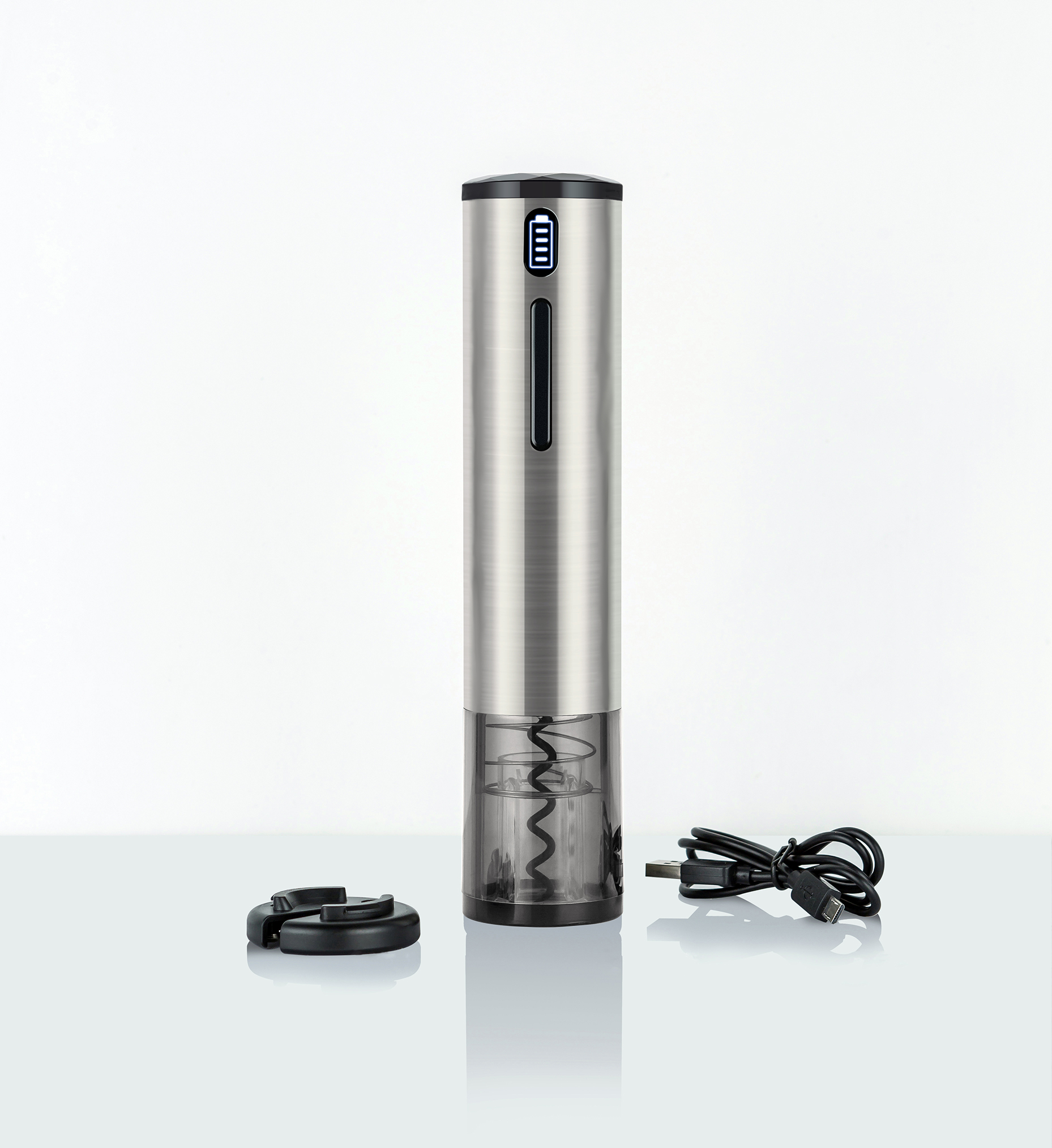 4 in 1 Stainless Steel USB Rechargeable Electric Wine <strong>Bottle</strong> <strong>Opener</strong> <strong>Automatic</strong> Electric Wine <strong>Opener</strong>