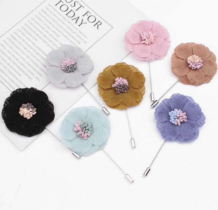 ขายส่งผู้หญิงเข็มกลัด Pins Handmade ผ้าดอกไม้เข็มกลัด Lapel Pins สำหรับเสื้อผ้า