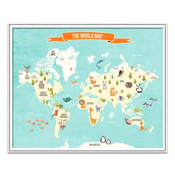 Personalizado De Alta Qualidade Profissional Criancas Mapa Do