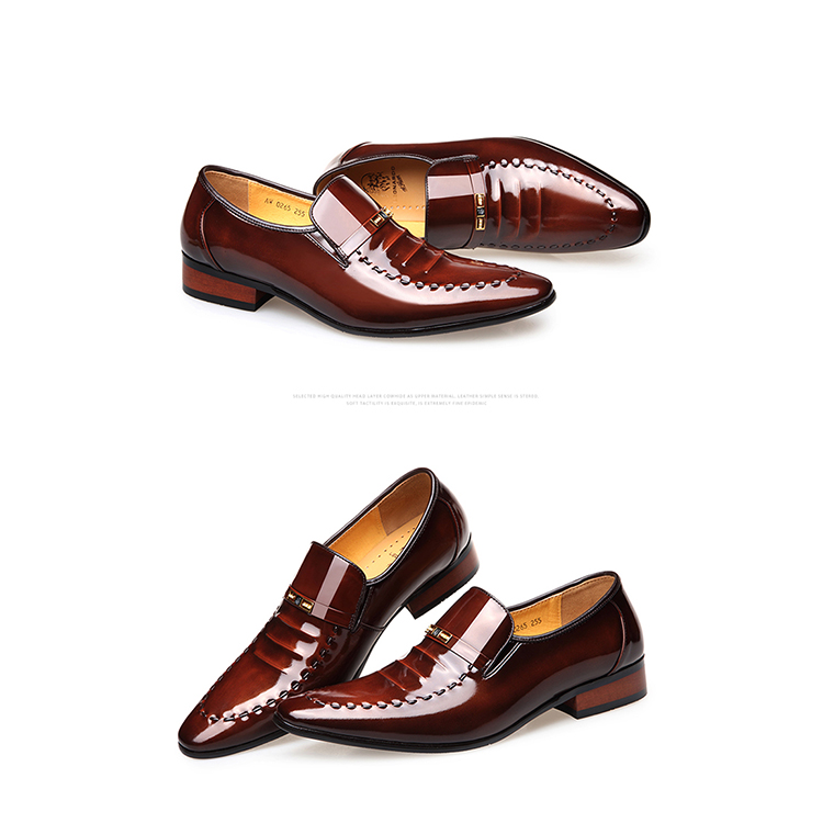 Wholesale manufacturer men's quality original leather business dress shoes