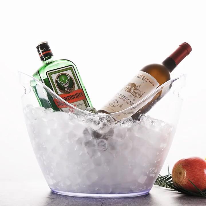 Oempromo custom wine acrylic ice bucket