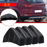 auto rear bumper protector anti-collision triangle guard PVC guard bumper rubber protection with screws