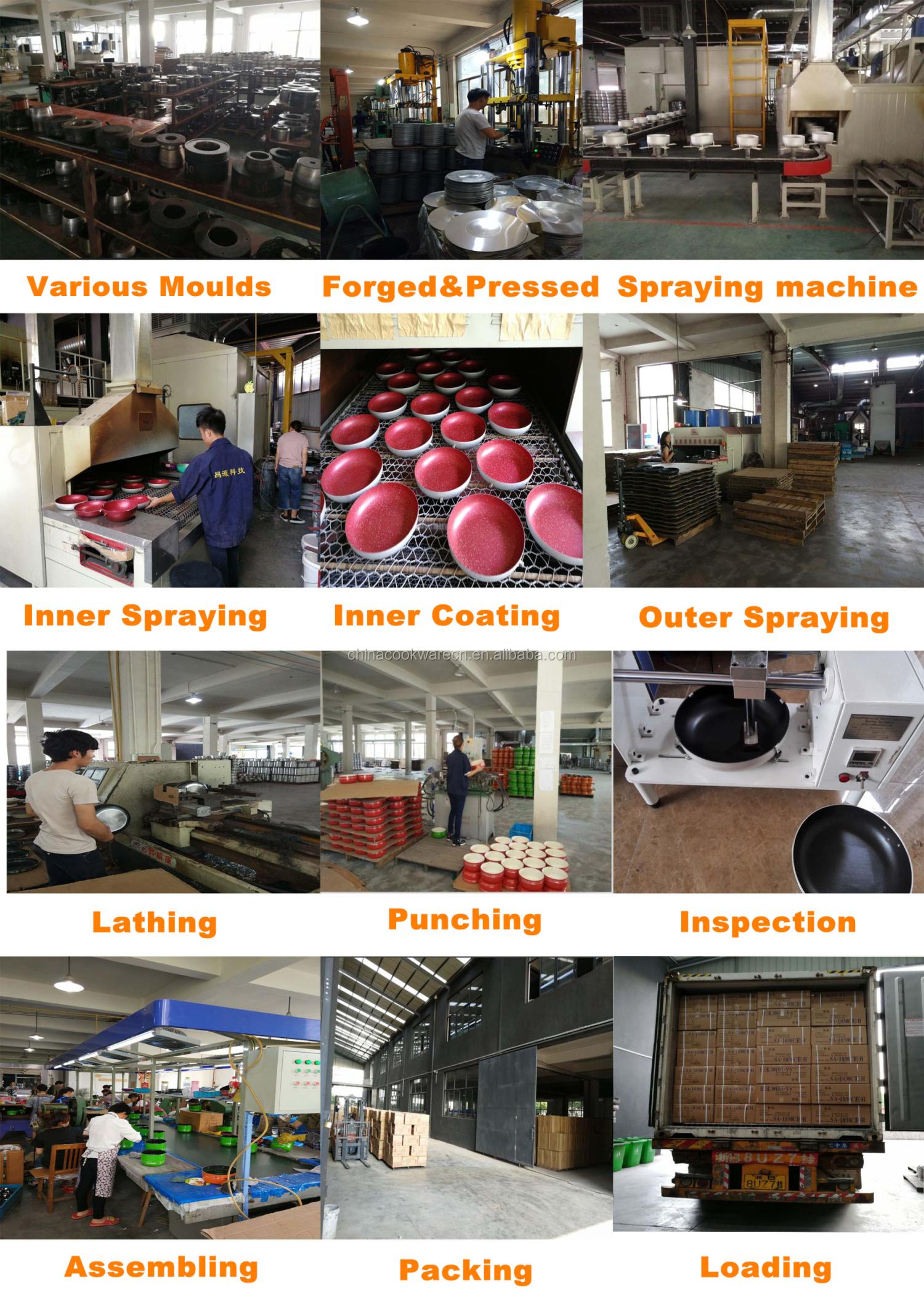 Nova moda de alumínio antiaderente cozinhar em casa conjunto de 15Pcs pressionado antiaderente conjunto de panelas com revestimento em pó e nylon ferramentas
