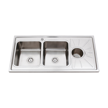 Table Top Doppia Vasca 1.2 M Singolo Scolapiatti Cucina Wash Trough Lavello  Con Rotonda Pattumiera - Buy Table Top Lavello,Table Top Doppia Vasca ...