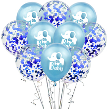 10pcs 12 inch cartoon <span class=keywords><strong>elefanten</strong></span> OH <span class=keywords><strong>BABY</strong></span> latex konfetti ballon kind geburtstag party <span class=keywords><strong>dekoration</strong></span> <span class=keywords><strong>baby</strong></span> shower party lieferungen ballon