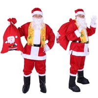 Christmas Carnival Clothes Adult Father Christmas Costumes Santa Claus Clothes C
