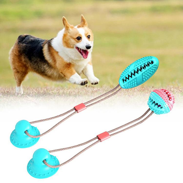 Hund Interaktive Aktivität Biss Spielzeug Saug Seil Schlepper Sucker Spielzeug Eco freundliche TPR Gummi Ball Zahn Reinigung