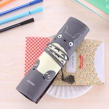 Милый офисный студенческий пенал, чехол творческая большая емкость, сумка-карандаш на молнии, школьные принадлежности, Канцтовары, чехол дл...(Китай)