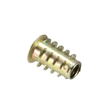 Wholesale yellow zinc plated wooden furniture screws insert nuts