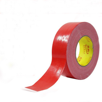 China Production High Quality Red Color Waterproof Self Adhesive Carpet Use Cloth Duct Tape